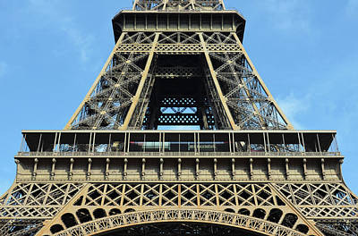 Photograph - Midsection First And Second Levels Of The Eiffel Tower Paris France by Shawn O'Brien