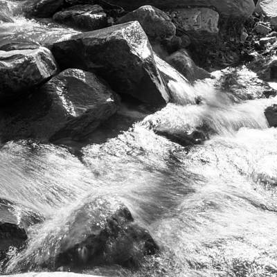 Photograph - Midstream Bw by Nathan Hillis