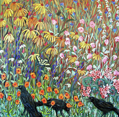 Painting - Midsummer Enchantment- Diptych Side B by Susan  Spohn