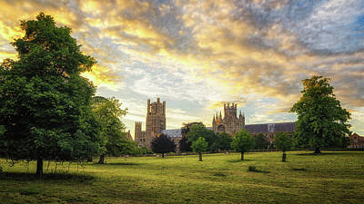 Midsummer Evening In Ely Art Print