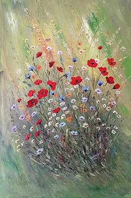 Painting - Midsummer Poppies by Dorothy Maier