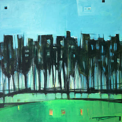 Painting - Midsummer Tree Line by Tim Nyberg