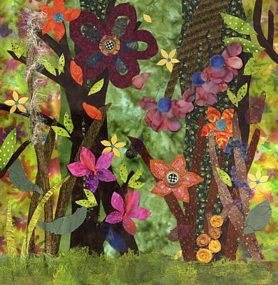 Fabric Mixed Media - Midsummers Daydream I by Julia Berkley