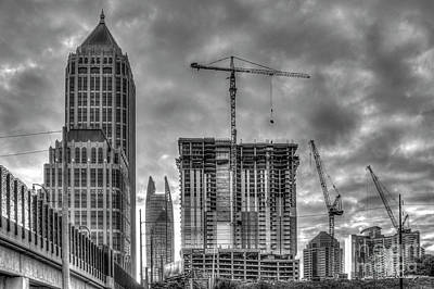Photograph - Midtown Atlanta Cranes Sunrise Construction Art by Reid Callaway