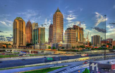 Photograph - Midtown Atlanta Dusk Construction Art by Reid Callaway