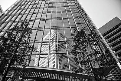 Photograph - Midtown Atlanta In Black And White by Jill Lang