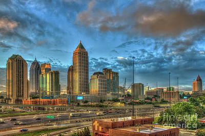 Photograph - Midtown Atlanta Sunrise Construction Boom Art by Reid Callaway