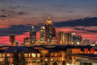 Photograph - Midtown Atlanta Towering Over Atlantic Commons Art by Reid Callaway