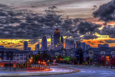 Photograph - Midtown Atlanta Towers Over Atlantic Commons 2 Atlanta Sunrise Art by Reid Callaway