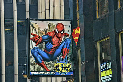 Photograph - Midtown Comics - N Y C by Allen Beatty