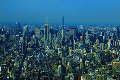 Photograph - Midtown Manhattan As Seen From One World Trade Center by Allen Beatty