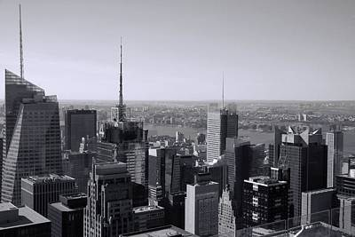 Photograph - Midtown Manhattan Black And White Skyline by Dan Sproul