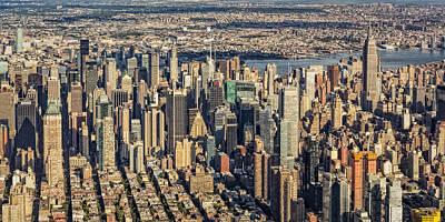 Manhattan Photograph - Midtown Manhattan Nyc Aerial View by Susan Candelario