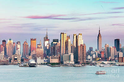Photograph - Midtown Manhattan Skyline At Sunset, New York City, Usa by Matteo Colombo