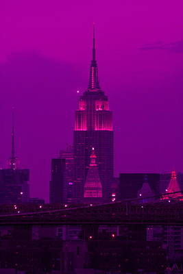Photograph - Midtown Purple by Christopher Kirby