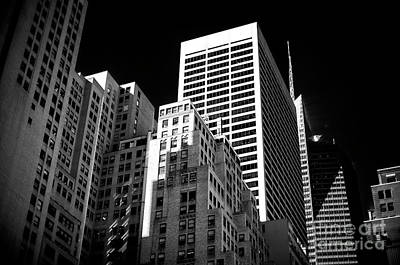 Photograph - Midtown White Lines by John Rizzuto