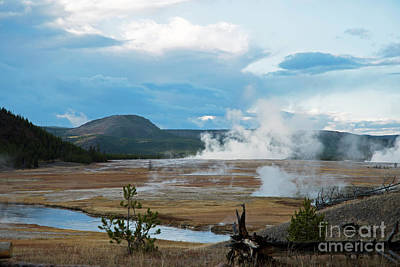 Photograph - Midway Geyser Area by Cindy Murphy - NightVisions