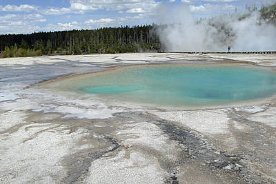 Photograph - Midway Geyser Basin 11 by Jeff Brunton