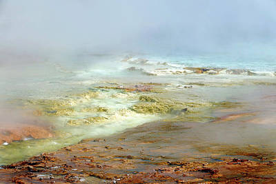 Photograph - Midway Geyser Basin 14 by Jeff Brunton