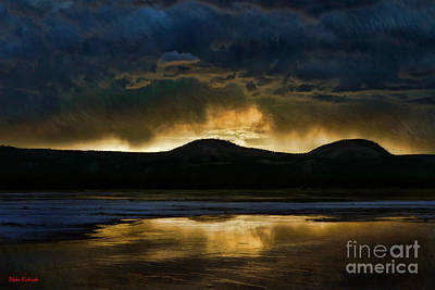 Photograph - Midway Geyser Basin Mountains by Blake Richards