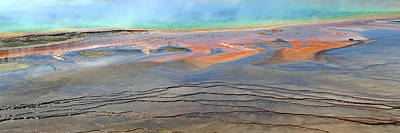 Photograph - Midway Geyser Basin Pan by Jeff Brunton