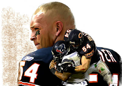 Painting - Midway II Brian Urlacher by Iconic Images Art Gallery David Pucciarelli