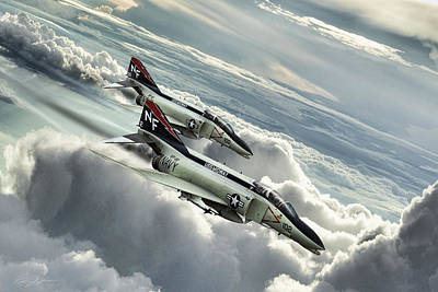 Midway Mig Killers Art Print by Peter Chilelli