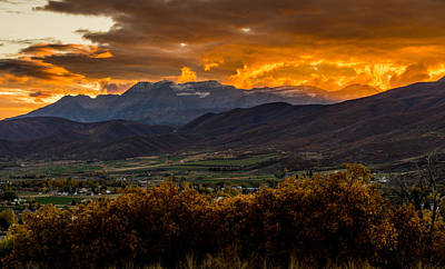 Midway Utah Sunset Art Print