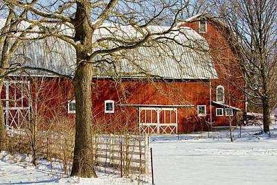 Midwest Barn Art Print by Pat Cook