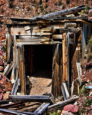 Photograph - Midwest Mine Shaft by Lana Trussell