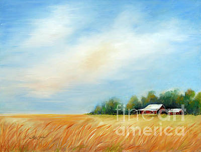 Painting - Midwest Oat Field by Pati Pelz