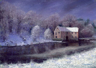 Midwinter At The Mill Print by Anthony Rule