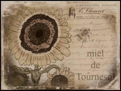 Miel De Tournesol  Art Print by Joely  Rogers