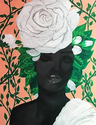 Acrylic Painting - Mieya Tiaiany  by Quea Reshawn