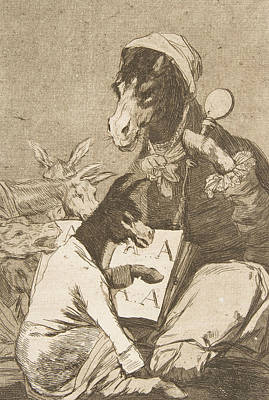 Relief - Might Not The Pupil Know More by Francisco Goya