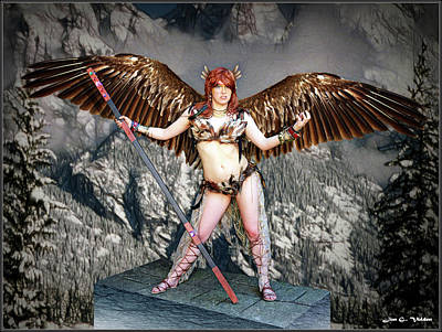 Photograph - Might Of The Hawk Woman by Jon Volden