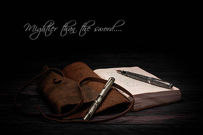 Pen Photograph - Mightier Than The Sword by Tom Mc Nemar