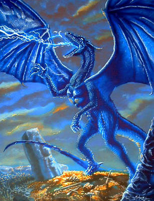 Mighty Blue Art Print