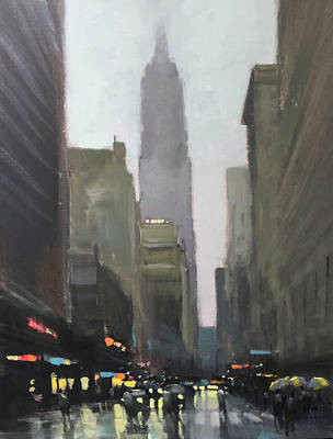 Wall Art - Painting - Mighty Empire State by Mike Barr