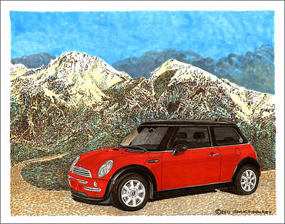 Mighty Mini Cooper S Art Print