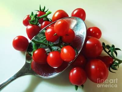 Photograph - Mighty Mini Tomatoes by Renee Trenholm