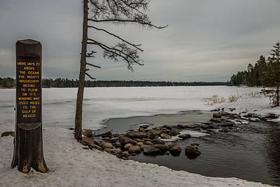 Itasca State Park Photograph - Mighty Mississippi Headwaters by Paul Freidlund