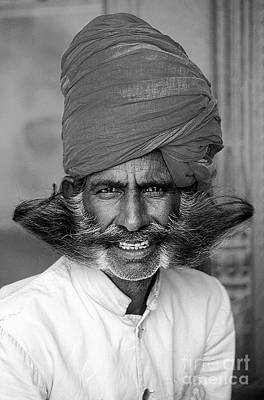 Photograph - Mighty Mustache - Jaipur Rajasthan by Craig Lovell