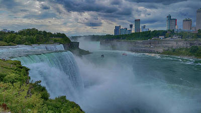Photograph - Mighty Niagara by Judy Hall-Folde