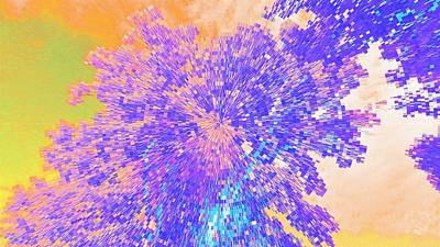 Leafy Mixed Media - Mighty Oak Abstract by Mike Breau