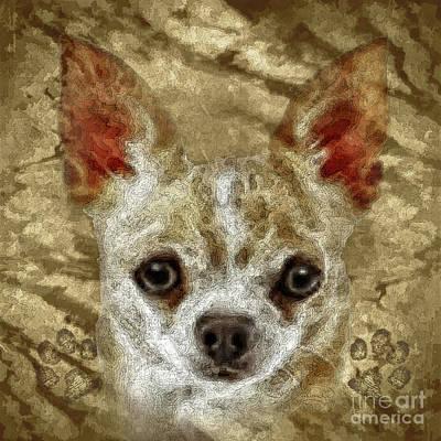 Puppies Mixed Media - Mighty by Shafawndi Heartski