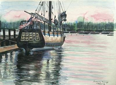 Painting - Mighty Ship Sleeping by Rosemary Kavanagh