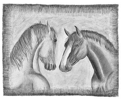 Drawing - Mighty Vs Gentle by Susan Schmitz