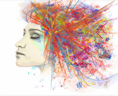 Migraine Art Print by Angela A Stanton