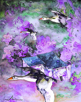 Painting - Migration 01 by Miki De Goodaboom